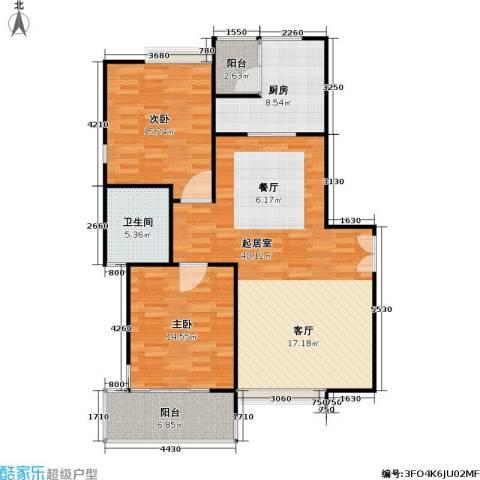 康桥半岛(五期)2室0厅1卫1厨124.00㎡户型图