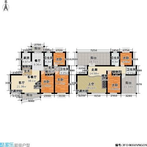 月泉湾名邸5室1厅4卫1厨207.93㎡户型图