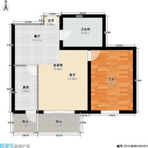 宏鑫家园1室0厅1卫1厨68.00㎡户型图