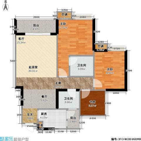 寓乐圈 永缘・寓乐圈3室0厅2卫1厨77.00㎡户型图