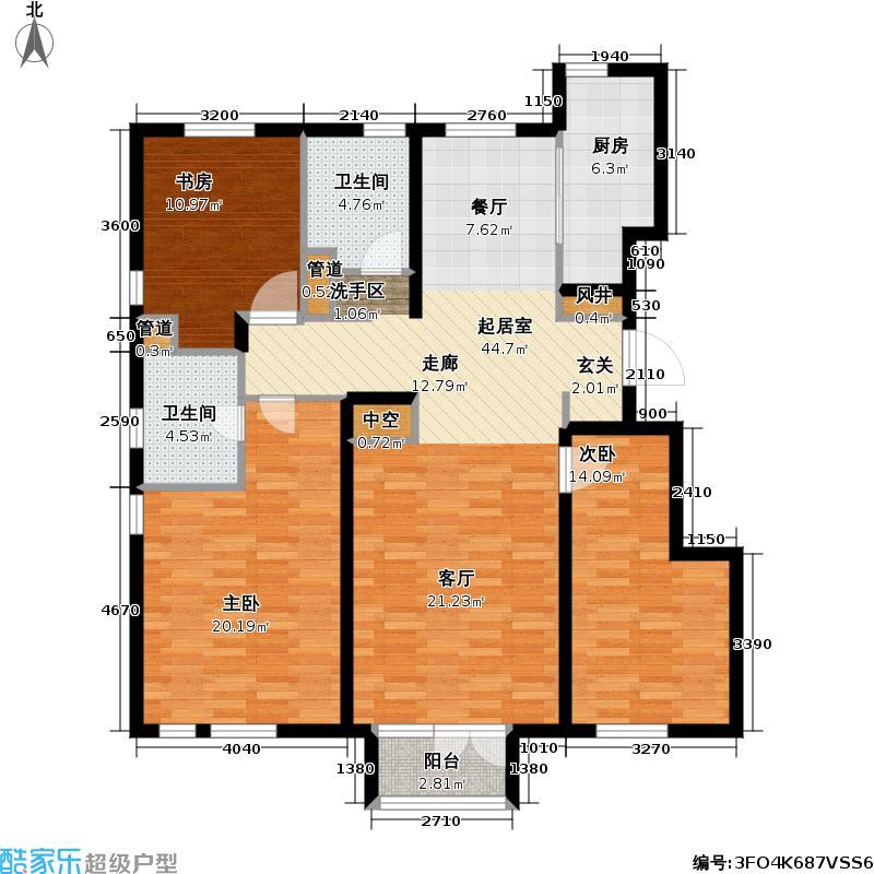 天泰美立方125.00㎡天泰城美立方户型图(2/2张)户型3室2厅2卫