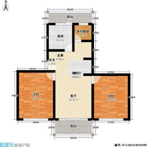新普盛公寓2室1厅0卫1厨92.00㎡户型图