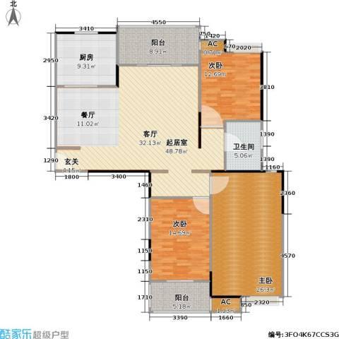 天隽峰3室0厅1卫1厨143.00㎡户型图