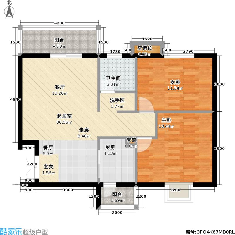 狮城翰园91.53㎡狮城翰园户型图A1二房二厅一卫(4/4张)户型10室