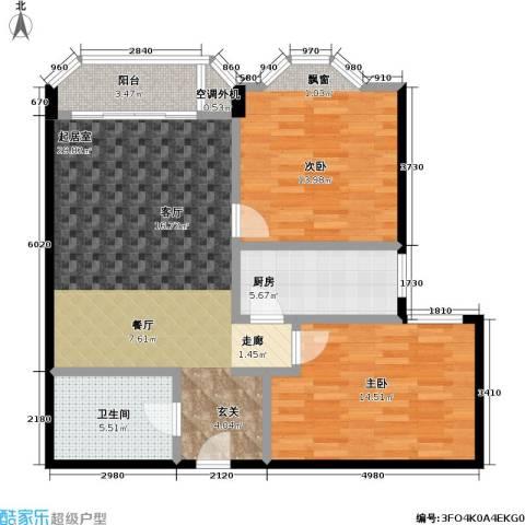 新磁器 青春坐标 新景家园2期 新景家园2期2室0厅1卫1厨94.00㎡户型图