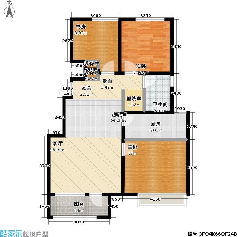 万科城市花园88.00㎡万科城市花园户型图(4/6张)户型10室