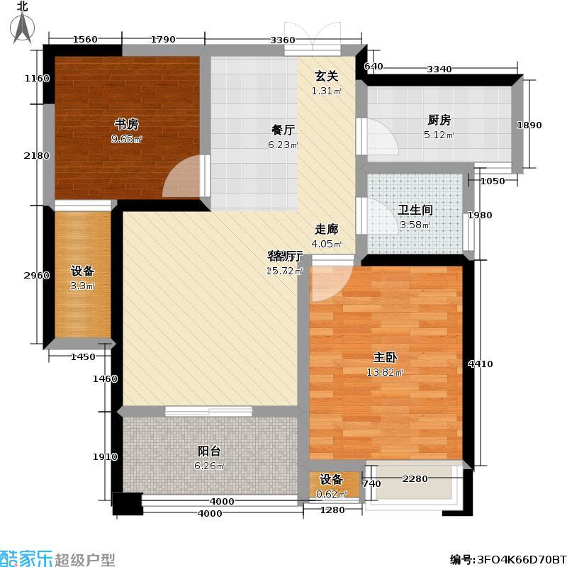 府河名居81.23㎡府河名居户型图B-7两室两厅一卫(4/12张)户型10室