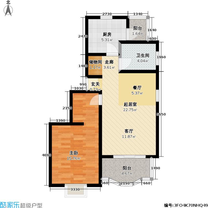 宜嘉苑62.00㎡房型: 一房; 面积段: 62 -62 平方米; 户型