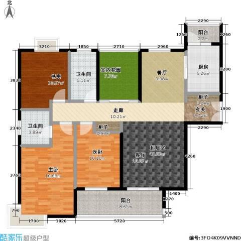 天隽峰3室0厅2卫1厨159.00㎡户型图