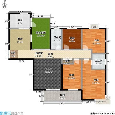 天隽峰4室0厅2卫1厨185.00㎡户型图