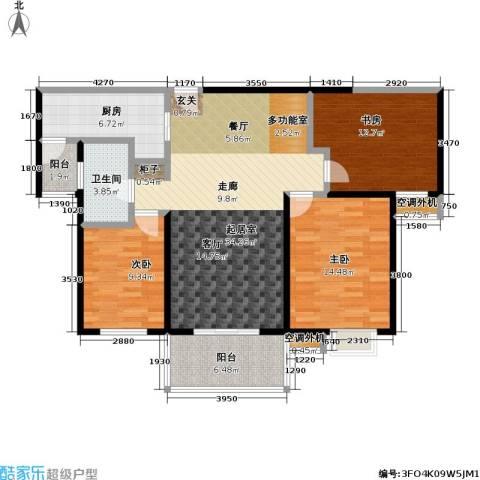 天隽峰3室0厅1卫1厨116.00㎡户型图