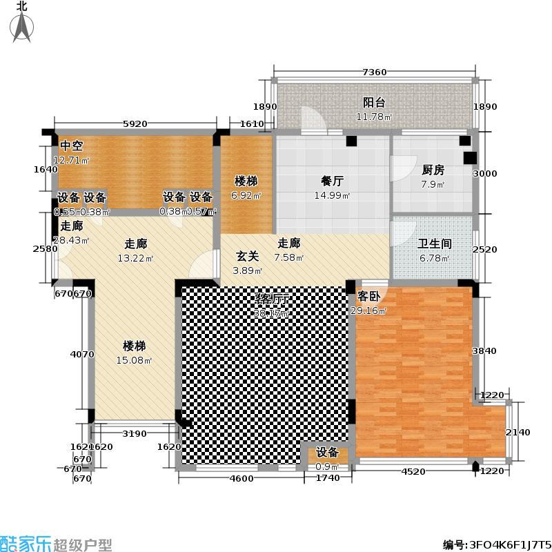 水云居190.00㎡水云居户型图四房二厅三卫-191平方米-一层(3/6张)户型10室