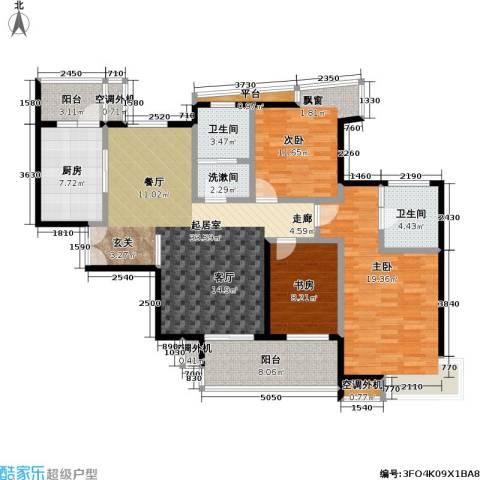 天隽峰3室0厅2卫1厨131.00㎡户型图