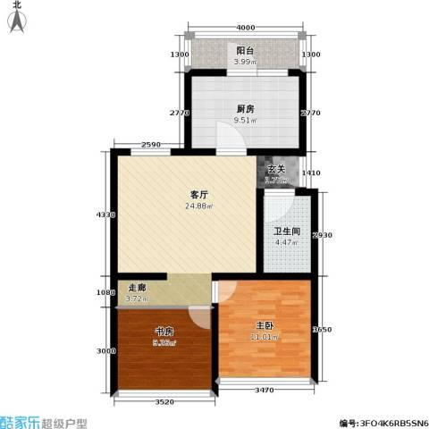 康庄住宅小区2室1厅1卫1厨73.00㎡户型图