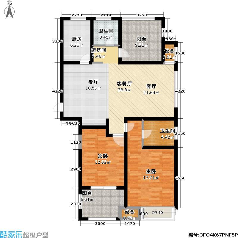 中吴雅苑115.15㎡中吴雅苑户型图二房二厅二卫(2/8张)户型2室2厅2卫