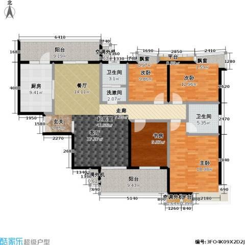 天隽峰4室0厅2卫1厨165.00㎡户型图