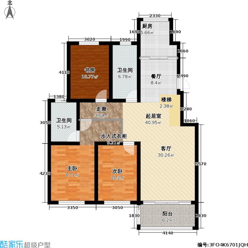 青岛红状元社区217.00㎡B23户型5室3厅4卫