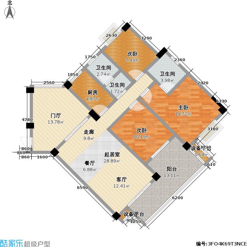 紫云黄狮海岸115.00㎡紫云黄狮海岸户型图房型:三房;面积段:115-120平方米;(4/9张)户型10室