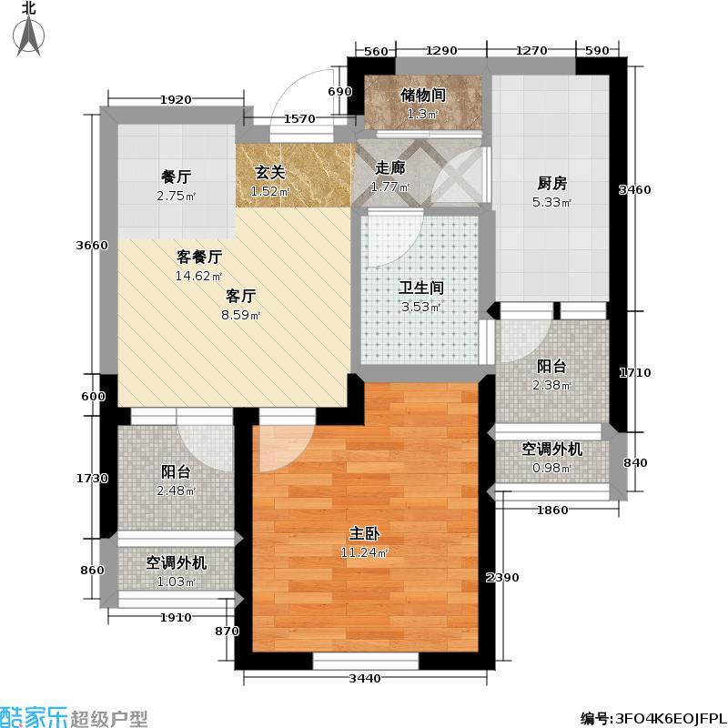 置地青湖语城51.50㎡置地青湖语城户型图A户型(1/1张)户型10室