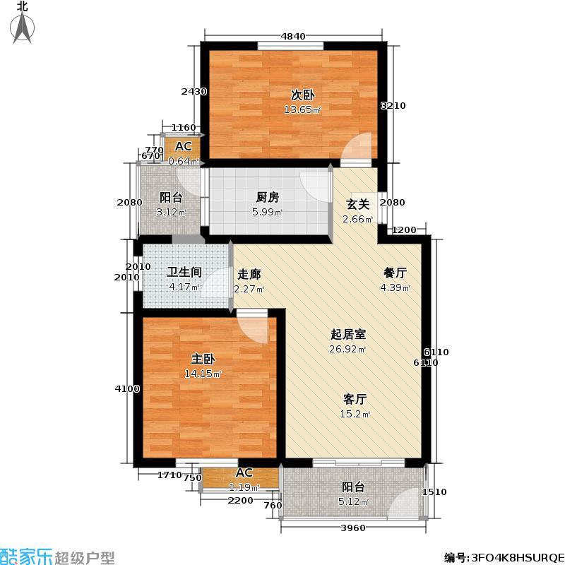 顺达苑86.00㎡房型: 二房; 面积段: 86 -106 平方米; 户型