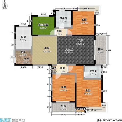 天隽峰3室0厅2卫1厨162.00㎡户型图