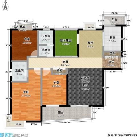 天隽峰3室0厅2卫1厨160.00㎡户型图