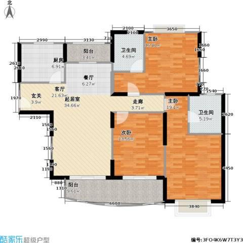 龙馨嘉园一期3室0厅2卫1厨113.53㎡户型图