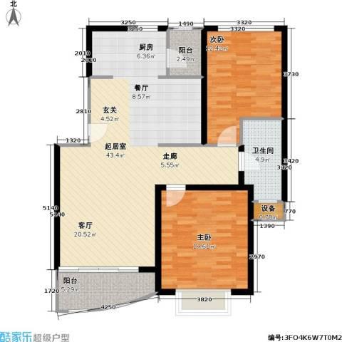 龙馨嘉园一期2室0厅1卫0厨90.00㎡户型图