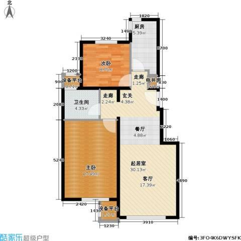 北京苏活2室0厅1卫1厨91.00㎡户型图