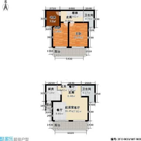 白玉兰花园3室0厅2卫1厨137.58㎡户型图