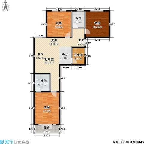 静安恬园3室0厅2卫1厨146.00㎡户型图