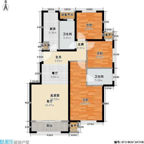 北京苏活3室0厅2卫1厨111.00㎡户型图