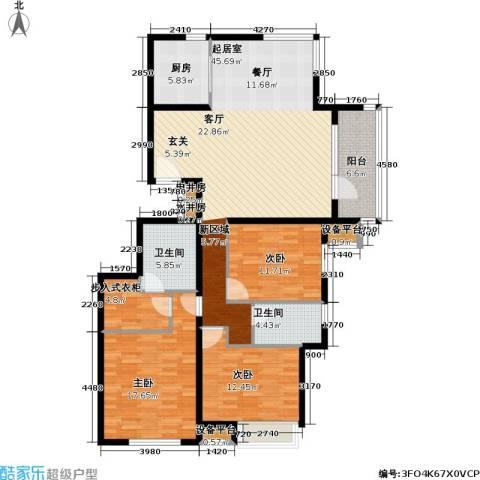 北京苏活3室0厅2卫1厨142.00㎡户型图