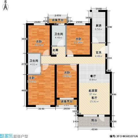 北京苏活4室0厅2卫1厨134.00㎡户型图