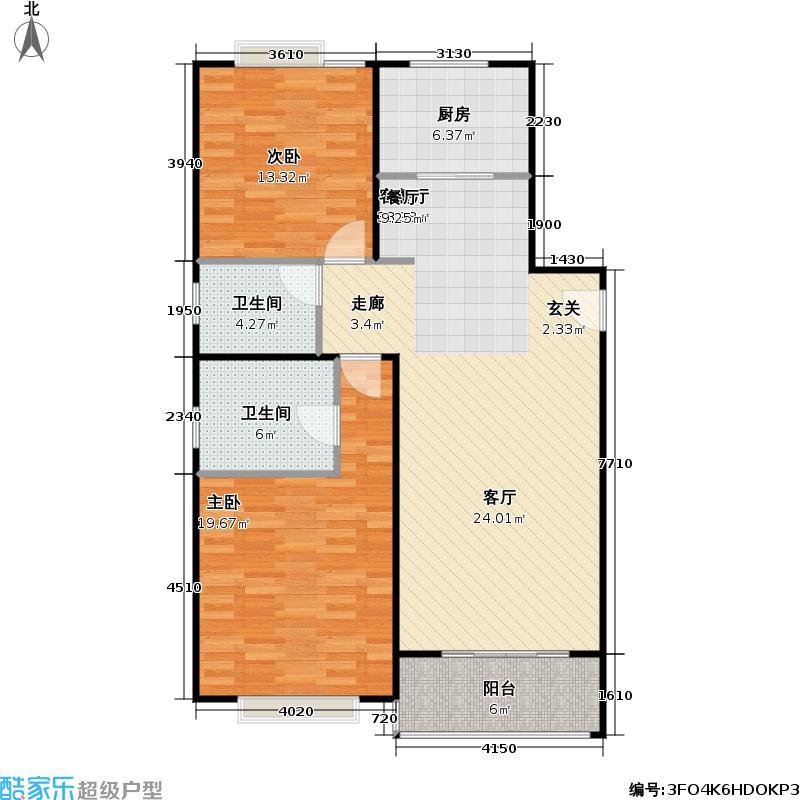 德福苑101.14㎡房型: 二房; 面积段: 101.14 -115.93 平方米; 户型