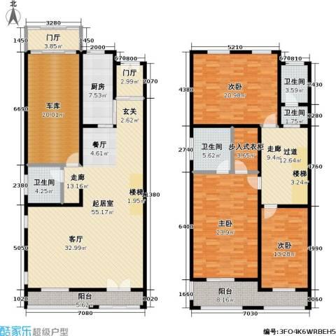 新时代景庭3室0厅4卫1厨270.00㎡户型图