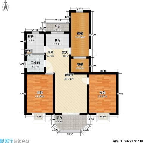 上泰绅苑2室1厅1卫1厨100.00㎡户型图