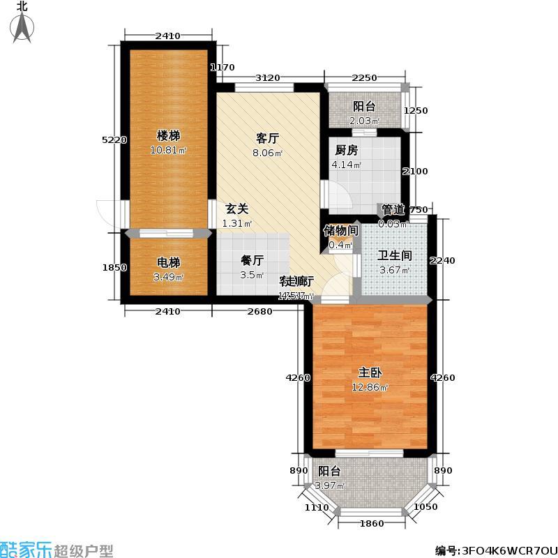 上泰绅苑70.00㎡一房两厅一卫-71.81平方米-23套户型