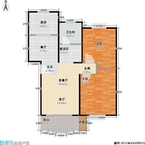 乾宁园2室1厅1卫1厨89.00㎡户型图