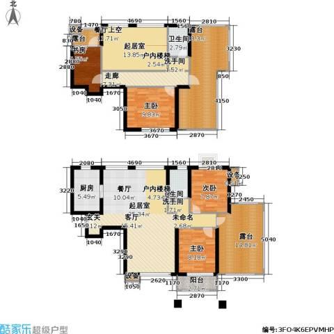 首开悦澜湾4室0厅2卫1厨156.00㎡户型图