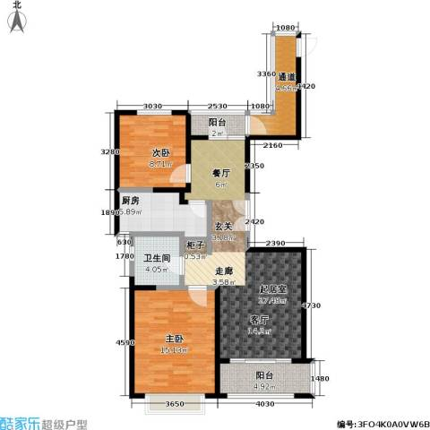 宝华名邸2室0厅1卫1厨90.00㎡户型图