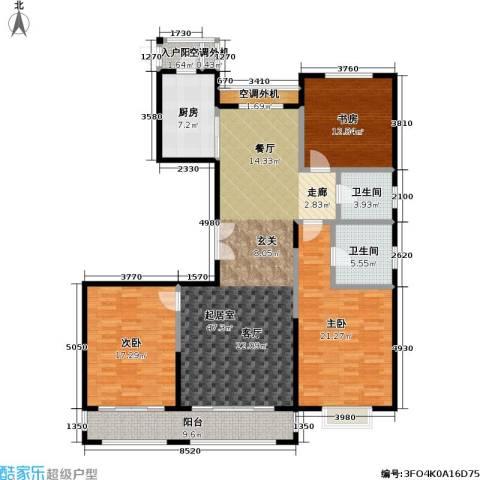 宝华名邸3室0厅2卫1厨160.00㎡户型图