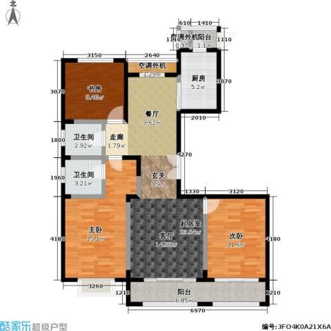 宝华名邸3室0厅2卫1厨140.00㎡户型图