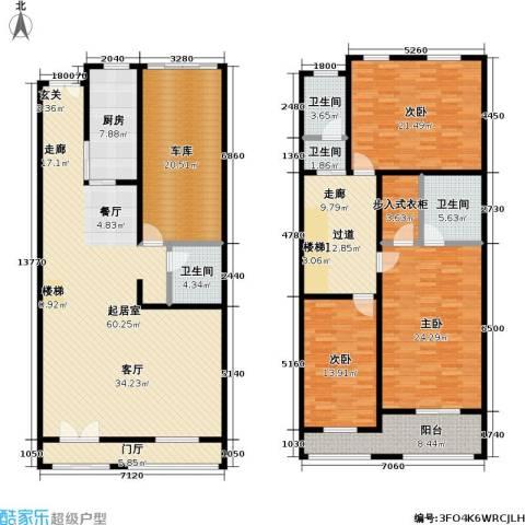 新时代景庭3室0厅4卫1厨271.00㎡户型图