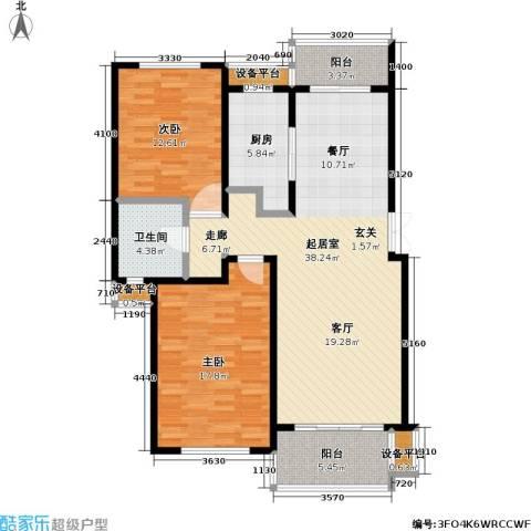 新时代景庭2室0厅1卫1厨127.00㎡户型图
