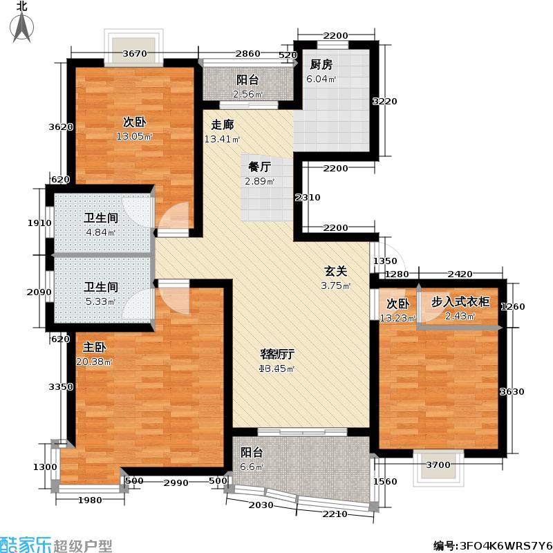 枫桦景苑二期房型户型3室1厅2卫