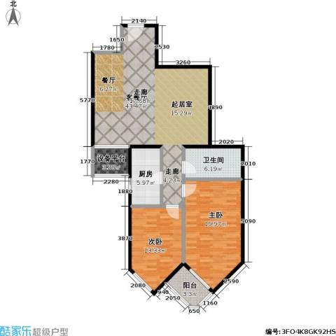 盛今大厦2室1厅1卫1厨106.00㎡户型图