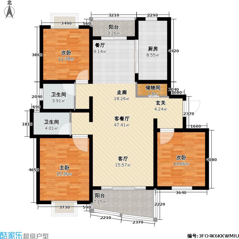 枫桦景苑二期_2户型3室1厅2卫1厨