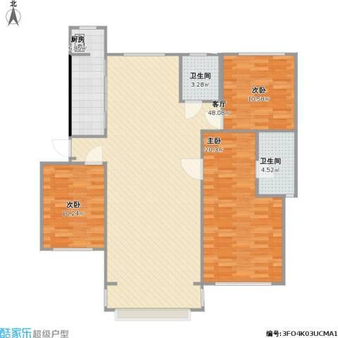 福渔园枫尚河院3室1厅2卫1厨139.00㎡户型图
