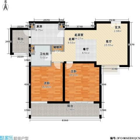 紫荆苑2室0厅1卫1厨115.00㎡户型图